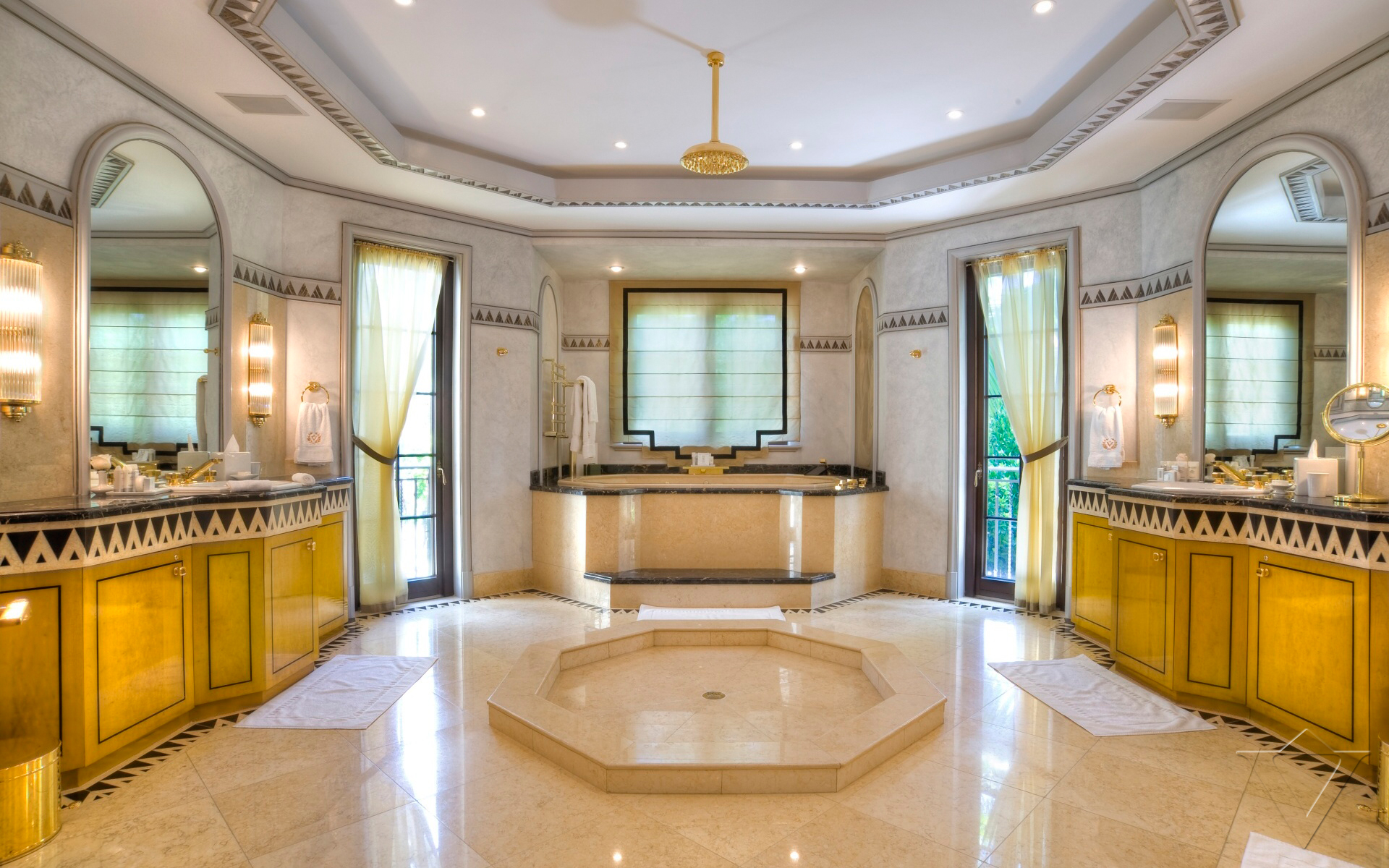 Villa contenta in miami florida bon vita for Florida bathroom designs